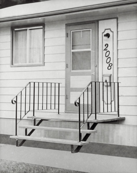 Wrought Iron Or Aluminum Outdoor Stair Railings.
